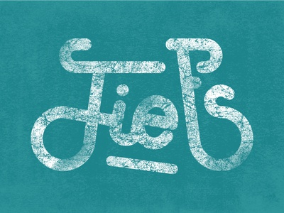Fiets* Lettering (* bicycle in Dutch)