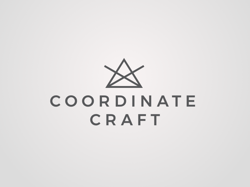 Coordinate Craft - Logo mark triangle geometric simple line logo