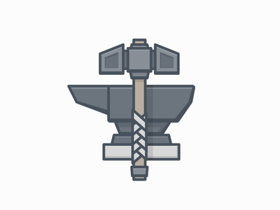 Hammerhound dungeons and dragons fantasy illustration craftsman craft work tools blacksmith forge anvil hammer