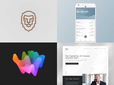 2018 digital 2018 year in review design landing website webpage branding brand logo crypto mobile application interface app clean simple