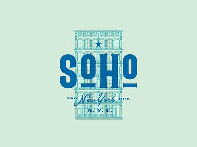Soho - icon illustration branding design logo typography illsutrator ny nyc soho