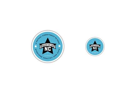Count on Me NC - Logo explore badge nc north carolina illustration vector branding typography type logo design