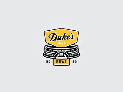 Dukes Mayo Bowl Logo - explore nc north carolina illustration vector branding logo design jon cain logo explore charlotte nc charlotte bowl mayo dukes