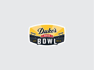 Dukes Mayo Bowl Final logo nc badge north carolina illustration vector branding typography design jon cain logo design logo dukes mayo bowl