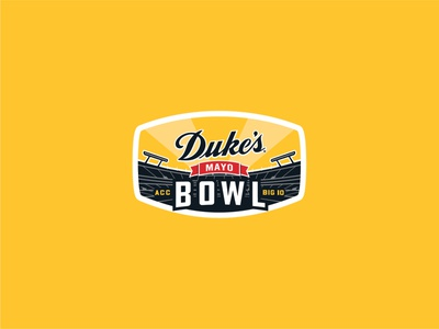 Dukes Mayo Bowl Final logo illustration north carolina icon vector branding typography type logo design jon cain logodesign dukes mayo bowl