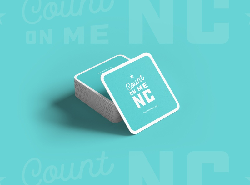 Count on Me NC - Tchothckes vector illustration north carolina nc branding typography type logo design