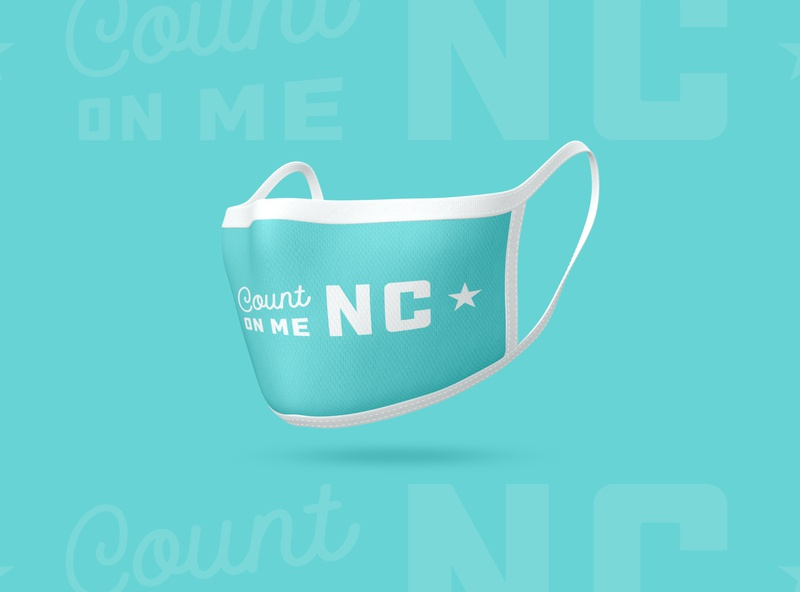 Count on Me NC - Mask nc north carolina illustration vector branding typography type logo design