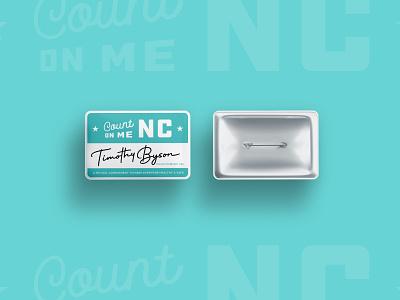 Count on Me NC - Pins nc north carolina illustration vector branding typography type logo design