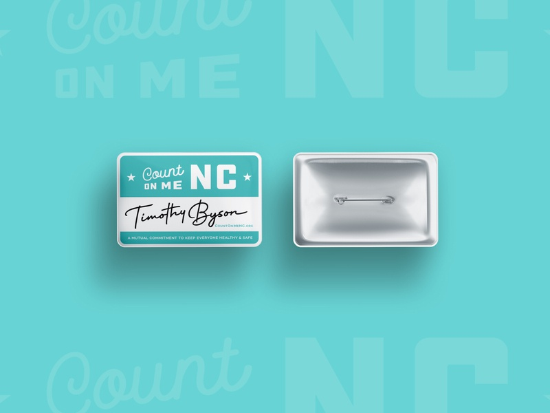 Count on Me NC - Pins nc north carolina illustration vector branding typography type logo design