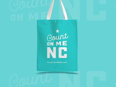 Count on Me NC - Totes north carolina nc icon branding typography logo design