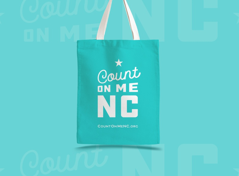Count on Me NC - Totes north carolina nc icon branding typography logo design