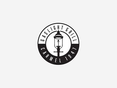 Gaslight Grill - Exploration v4 nc logo exploration identity restaurant logo post lamp grill gaslight
