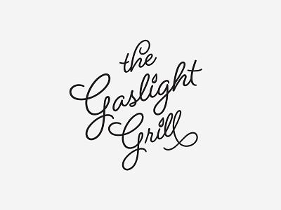Gaslight Grill - Exploration v3 vector illustration design logo typography logo design north carolina charlotte nc charlotte logo exploration gaslight grill
