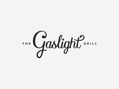 Gaslight Grill - Exploration v1 logo exploration north carolina nc vector branding typography type logo design