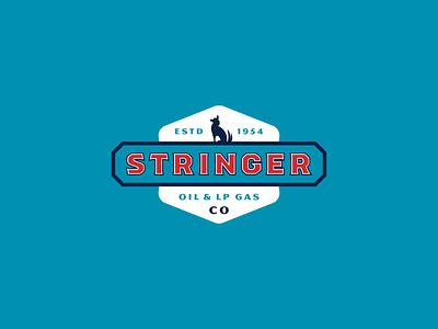 Stringer Oil Co illustration vector branding typography type logo design