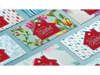 Business cards - The Stitched House - multiple backs