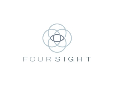 Foursight logo design logo eye sight four