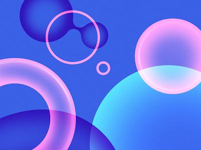 Pattern Exploration illustration overlap shapes abstract minimalist simple bright vivid gummies gum space bubbles pattern identity design brand identity branding