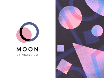 MOON Animation logoanimation animated logo motion design motiongraphics texture pattern night moon mark logo illustraion geometry design branding abstract