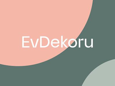 EvDekoru decoration home decor decor branding logotype type typigraphy wordmark logo design logo