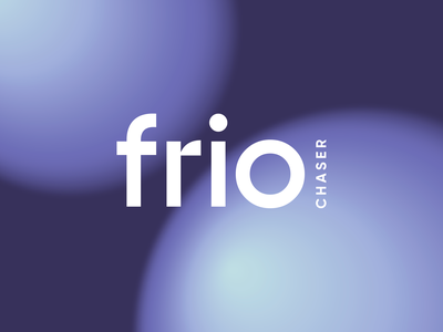 Logotype for Frio Chaser beverage abstract visual elements brand identity identity design visual identity space spheres gradient blurry trademark mark design type branding typography logo