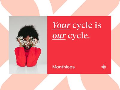 Monthlees Identity logo design visual language pattern visual elements identity design identity system visual identity brand identity identity branding
