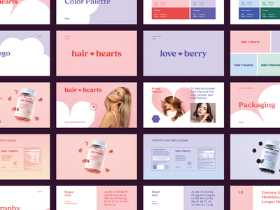 Branding Guidelines vitamins guide style guidelines layout color identity logo typography branding health wellness hair