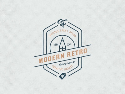 Modern Retro badge typography retro outline vintage label procastination procastinate xprocrastinationcontest playoff creative market contest