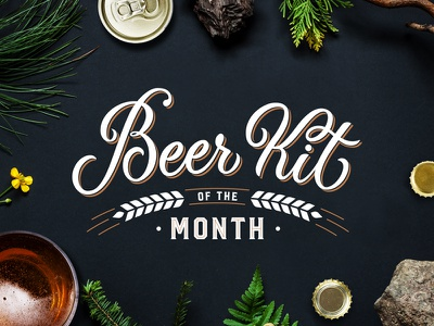 Beer Kit Of The Month (Vector) typography lettering logo type handmade sign handlettering craft trade mark script