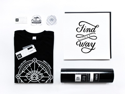 Compas Brand compas packaging poster lettering typography illustration lineart outline band clothing tshirt apparel