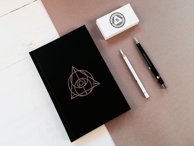 Personal Branding illustration triangle outline brand branding badge mark symbol monogram typography eye lineart
