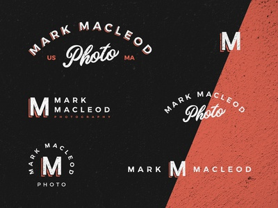 Mark MacLeod Personal Branding shadow typography lettering sign painters sign usa boston branding logo monogram badge photo