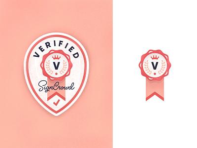 Verified Label stamp illustration icon crown verification verified awards rewards badge label