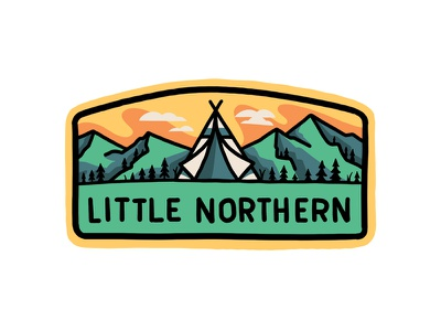 Camp Patch Concept procreate mountains retro outdoors vintage adventures travel line art type outline illustration lettering typography badge patch tent camp