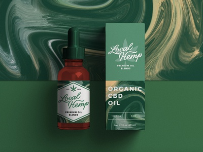 CBD Oil Packaging label box dropper bottle cbd oil marijuana cannabis hemp local brand assets pattern brand identity packaging type branding logo lettering badge typography