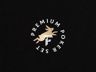 Fortune Poker Set on Behance logomark monogram poker rabbit design type branding illustration logo badge typography