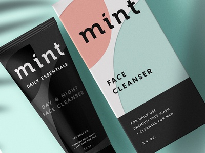 Mint Packaging Design men mint package box tube premium face essentials cosmetics identity brand indentity branding packagingdesign packaging