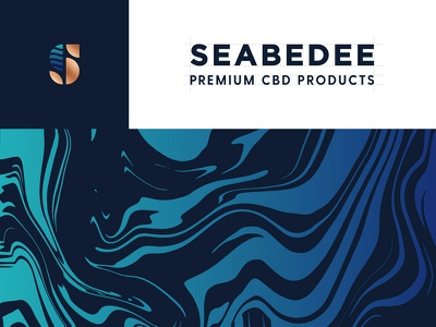 Seabedee (CBD) Brand Identity typography type art symbol sea premium pattern oil monogram mark logo liquid high-end hemp clean app cbd cannabis cannabidiol branding brand identity