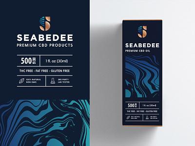 CBD Product Packaging Design high-end premium sea liquid pattern type typography clean monogram symbol mark brand identity logo branding cannabidiol oil cannabis hemp cbd packaging