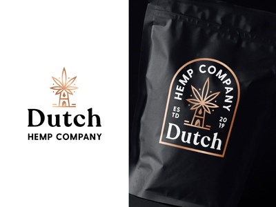 Logo Concept 02 packaging identity logotype mark symbol windmills windmill hemp foil cooper netherlands dutch line art branding outline badge typography type logo