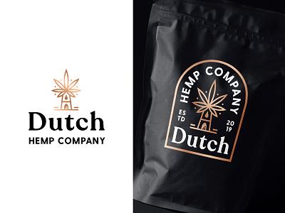 Logo Concept 02 packaging identity logotype mark symbol windmills windmill hemp foil cooper netherlands dutch line art branding outline badge typography type logo
