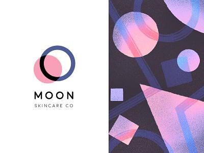 MOON Skincare Company moon universe planet geometry abstract pattern texture branding logo mark typogaphy space solar system night illustration type design