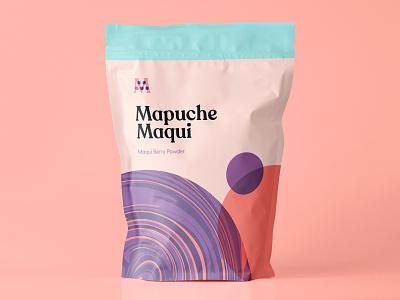 Brand Exploration maqui powder soft liquid healthy berry acai geometry abstract pattern texture packaging branding logo mark typogaphy illustration type design
