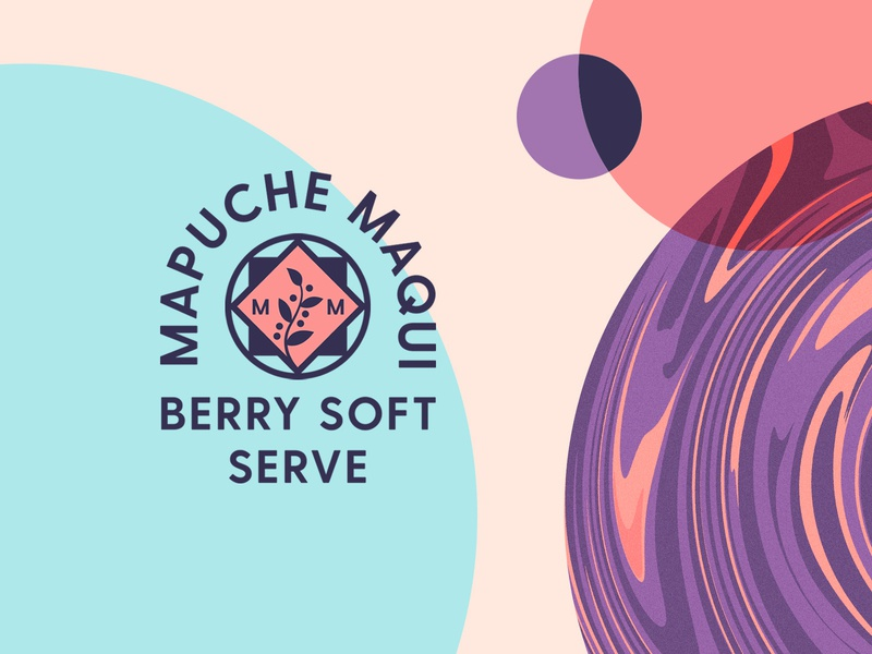Brand Exploration soft serve design type illustration typogaphy mark logo branding packaging texture pattern abstract geometry acai berry healthy liquid soft powder maqui