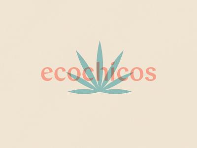 Ecochicos design type typography illustration logo mark logotype stamp visual brand palm plant plant store visual branding visual identity identitydesign packaging design brand identity branding logo