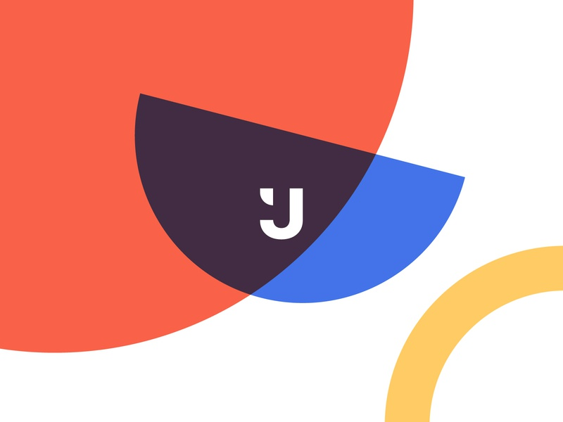Brand Identity for the Creative Agency called Jixart minimalist colorful stationery vivid simple basics shapes geometric color pattern collateral brand identity branding