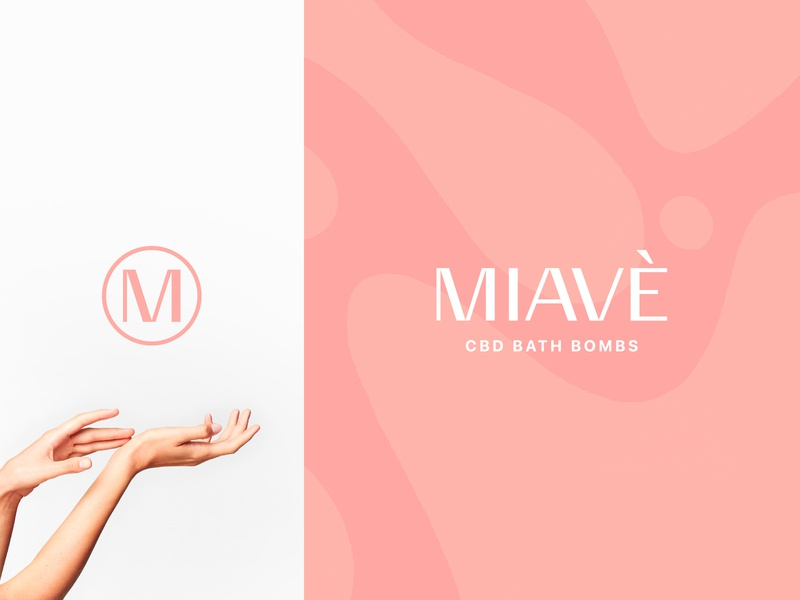 MIAVÈ Identity self care felax relief stress anxiety hemp bath bombs bath foil gold pattern high end luxury typography type logo identity brand branding design branding