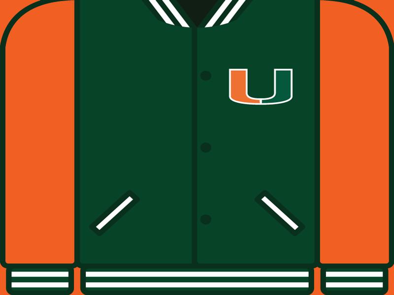 College Football Countdown: Miami letterman college football miami hurricanes miami um