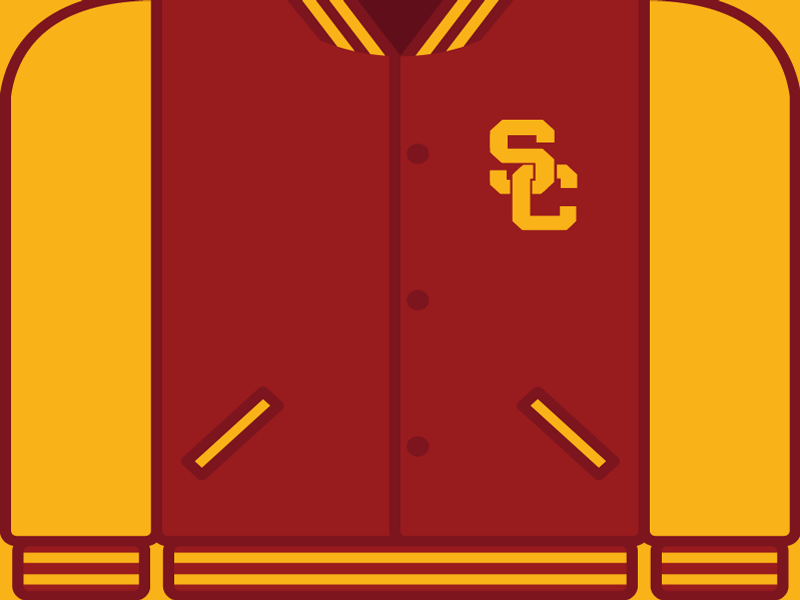 College Football Countdown: USC usc trojans college football ncaa letterman usc