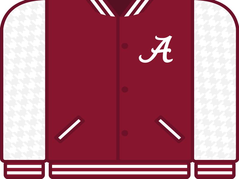 College Football Countdown: Alabama college football ncaa letterman crimson tide alabama